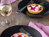 Beetroot and Goats Cheese Tarts and champagne picks for your Christmas celebrations