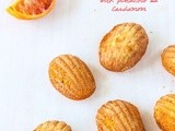 Blood Orange Madeleines with Pistachio and Cardamom
