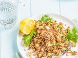 Caramelised Cauliflower with Chickpeas, Baby Kale, Lemon & Toasted Buckwheat {vegan + gluten free}