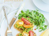 Chickpea Pancakes with Avocado, Tomato and Watercress {vegan}