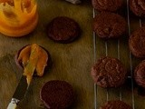 Chocolate Orange Brownie Cookies filled with Blood Orange Curd