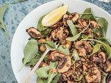 Mushroom, Lemon and Lentil Salad {vegan}