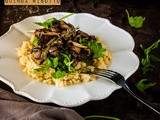 Thyme and Mushroom Quinoa Risotto {vegan and gluten free}
