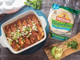 Veggie Enchiladas with Black Beans, Corn, and Goat Cheese {vegetarian, gluten-free}