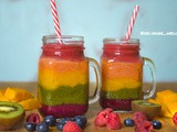 How to make Rainbow smoothie