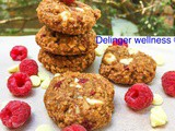 Raspberry white chocolate oatmeal cookies