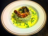 Grilled Tiger Prawns with Yogurt Coconut Chutney, Cumin Rice and Kale Salad - Complete Meal