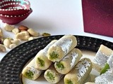 Kaju Pista Roll Recipe | Cashew Pistachio Rolls ~Indian Festival Sweets