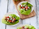 Strawberry, Chicken and Goat Cheese Lettuce Wraps