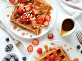 Peanut Butter And Jam Waffles