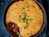 Vegan Chilli Cornbread Pie