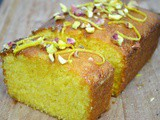Tea Time Lemon Lavender Polenta Cake