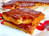 Beauty food pumpkin bars and healthy chocolate ganache
