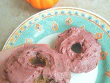 Chocolate frosted pumpkin protein donuts