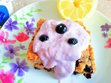 Lemon blueberry bars with sneaky beans