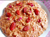 Rich chilli chocolate goji berry porridge