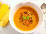 Warming spiced pumpkin apple soup (vegan)
