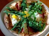 Breakfast Pizza in the Afternoon at cpk
