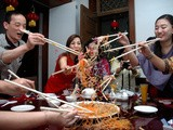 Lo Hei! Toss It High and Welcome The Year of the Earth Pig at Xin Tian Di