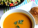 Butternut Squash Sweet Potato Soup With Couscous Salad