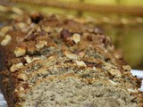 Whole wheat flour coconut-banana loaf/ coconut banana bread / coconut banana cake