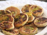 Whole wheat stuffed pinwheel / aloo rolls