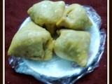 Fried Pastry/Bengali Sweet Shingara/Khoya Samosa/Indian Festival Sweet