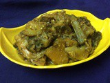 Non-Veg. Side Dish With Malabar Spinach And Fish Head/Pui Shak And Fish Head(Rohu/Katla)