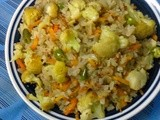 Quick And Easy Breakfast  -  Flattened Rice (Chire) Pulao