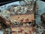 Lean Hazelnut Roll Bars with Cranberries