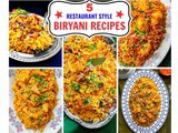 5 Restaurant Style Biryani Recipes (Step by Step Guide)