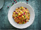 Curried Quinoa Salad with Cranberries (Warm Salad)