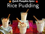 Quick Pumpkin Spice Rice Pudding