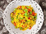 Sauteed Indian Cabbage Recipe with Carrot & Peas (v+gf)