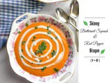 Skinny Butternut Squash and Red Pepper Bisque