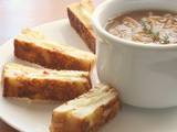 What to Cook for a Weekend of Playoffs and Snowstorms: French Onion Soup With Grilled Swiss Cheese and Bacon Dippers