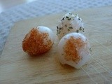 Quail eggs with two salts
