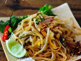 Pad Thai - Vegetarian Pad Thai Noodles Recipe, Step by Step