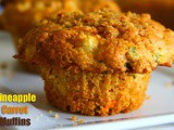 Eggless Pineapple Carrot Buttermilk Muffins