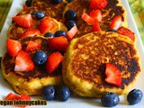 Vegan Johnny Cakes aka Cornmeal Pancakes