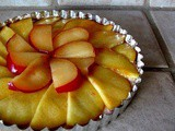 Peach + Pluot Tart with Lemon Coconut Cream
