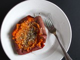 Roasted Sweet Potato with Cashew Butter + Za'atar