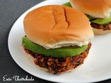 Red Kidney Beans and Avocado Burger