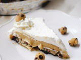 Chocolate chip cookie dough cream pie
