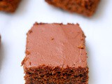 Sourdough frosted fudge brownies