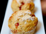 Whole wheat fruit jam muffins