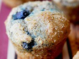 Whole wheat lemon blueberry muffins (a Whole Foods recipe)