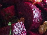 Balsamic Beet Salad – Fresh Herbs, Toasted Walnuts, Feta Cheese