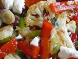 Roasted Cauliflower Salad w/ Mediterranean Flair