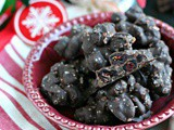 Slow Cooker Chocolate Cranberry Clusters with Hawaiian Pink Salt